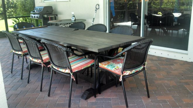 ana white outdoor farmhouse table diy projects