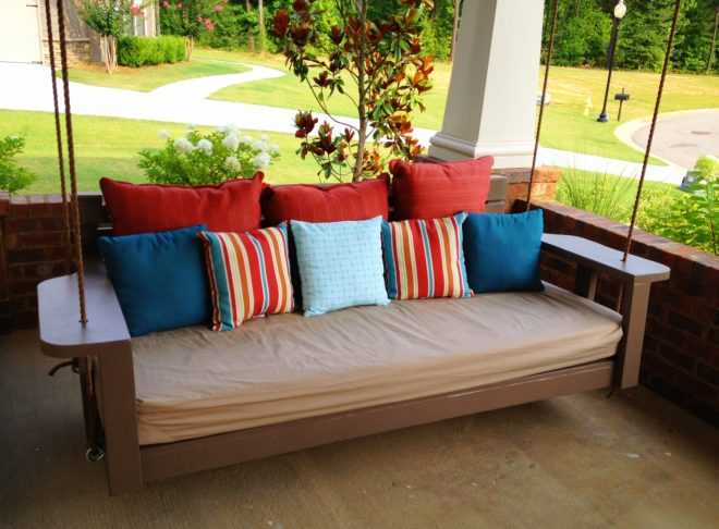ana white swing bed time to relax diy projects