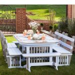 anchor your outdoor dining space in timeless mission style
