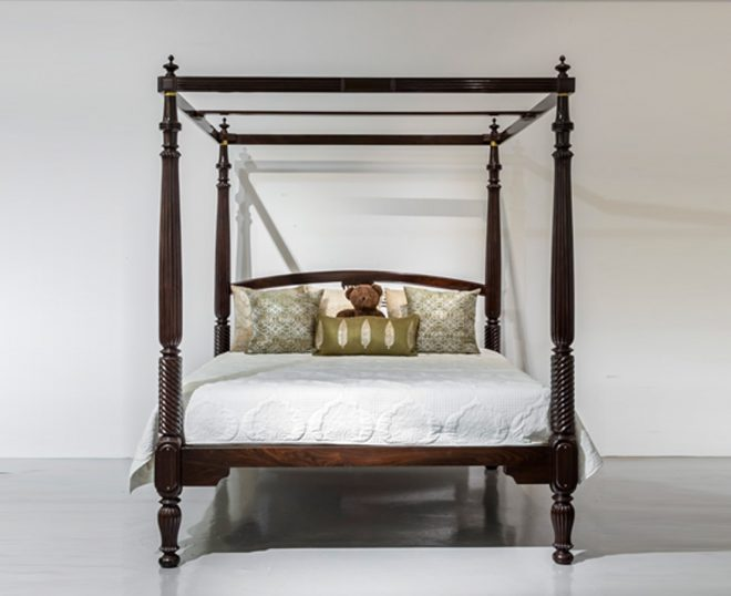 anglo indian rosewood four poster bed sold the past