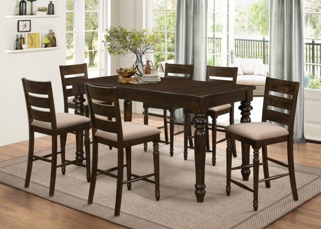 annandale counter high dining table with 6 chairs price drop alert