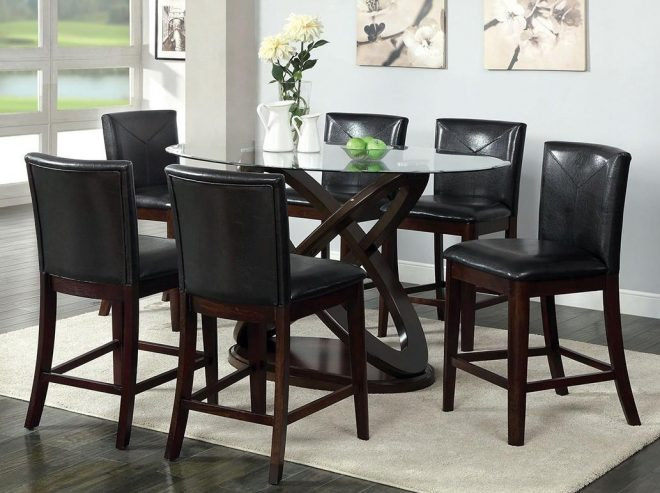 antenna ii 5pc counter height table dining set america at del sol furniture