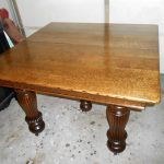 antique 5 legged oak dining table