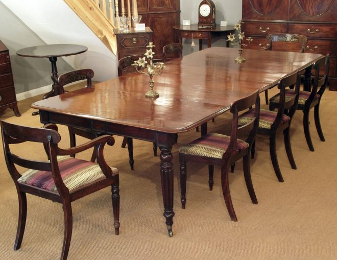 antique dining table with hidden leaves strangetowne
