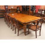 antique victorian extending dining table 12 chairs 19th c