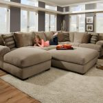 appealing oversized brown leather sectional bag jacket couch