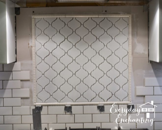 arabesque tile backsplash accent tutorial arabesque tile