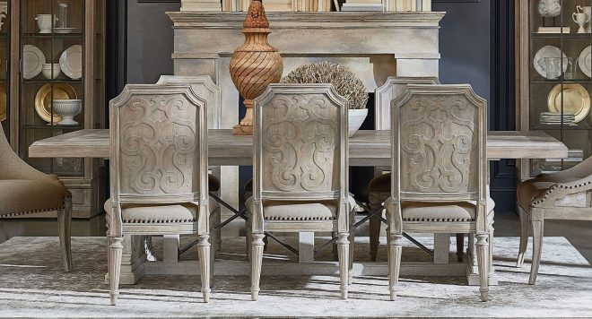 arch salvage pearce dining room set parchcirrus w choices