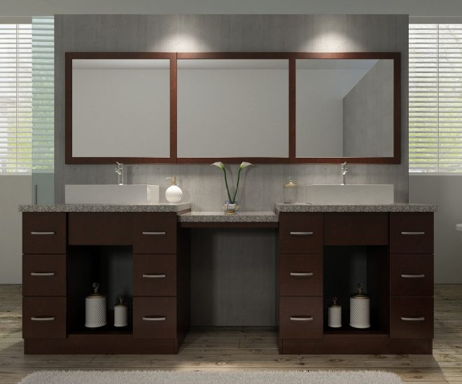 ariel bath roosevelt 97 double sink vanity set with mirror and