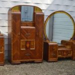 art deco waterfall bedroom chifforobe with desk dresser dressing
