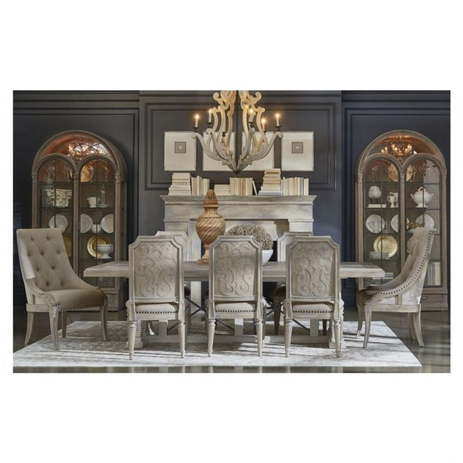 art furniture arch salvage pearce 7pc dining table set in parch