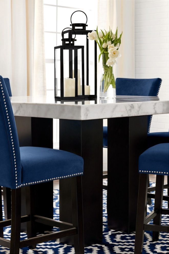 artemis counter height dining table marble counter