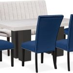 artemis marble dining table 4 upholstered dining chairs and bench
