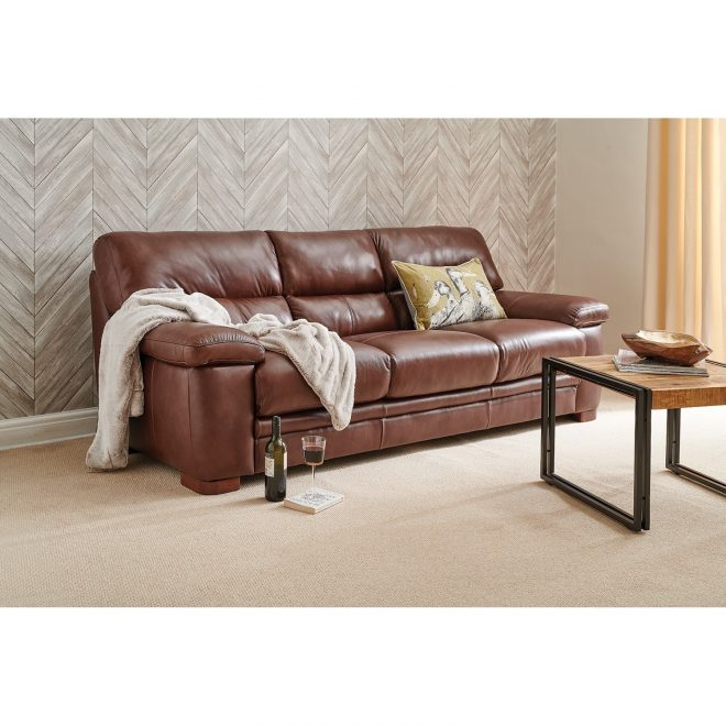 artemis three seater leather sofa