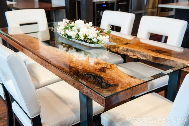 artistic and modern live edge wood slab tables