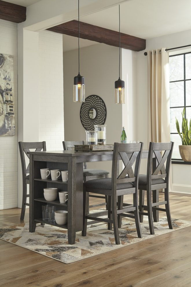 ashley caitbrook 5pc counter height dining room set