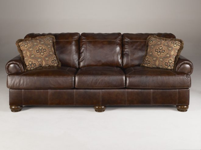 ashley furniture axiom walnut sofa