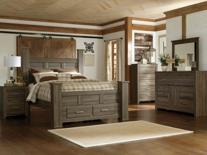 ashley furniture b251 juararo queen or king size poster bed frame bedroom set
