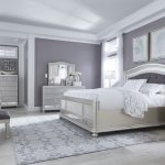 ashley furniture coralayne panel bedroom set in silver