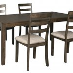 ashley furniture drewing rectangle dining room set in brown