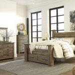 ashley furniture trinell poster storage bedroom set in brown