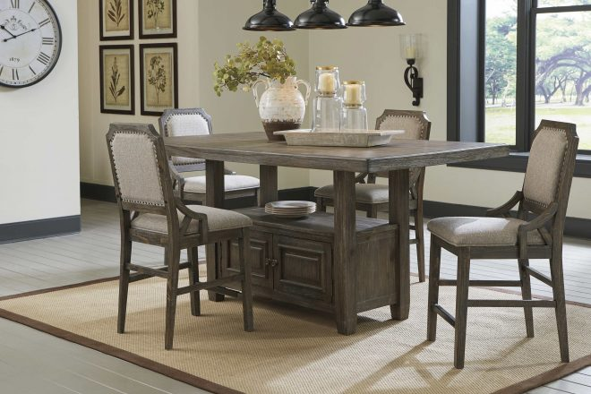 ashley furniture wyndahl counter height dining room set in rustic brown