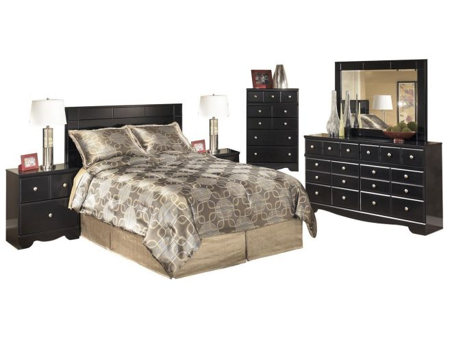 ashley shay 6pc queenfull panel bedroom set with two