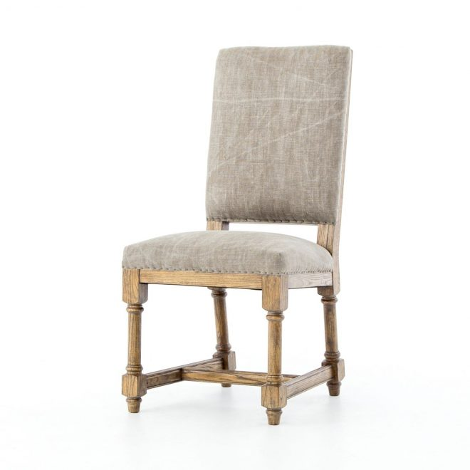 ashton jute upholstered high back dining chair dining room