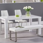 atlanta 160cm white high gloss dining table with cavello