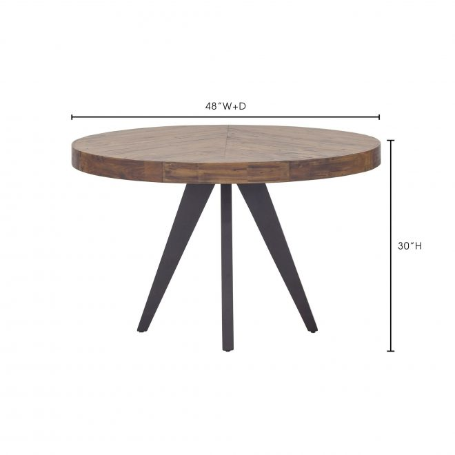 aurelle home panko round modern dining table cappuccino