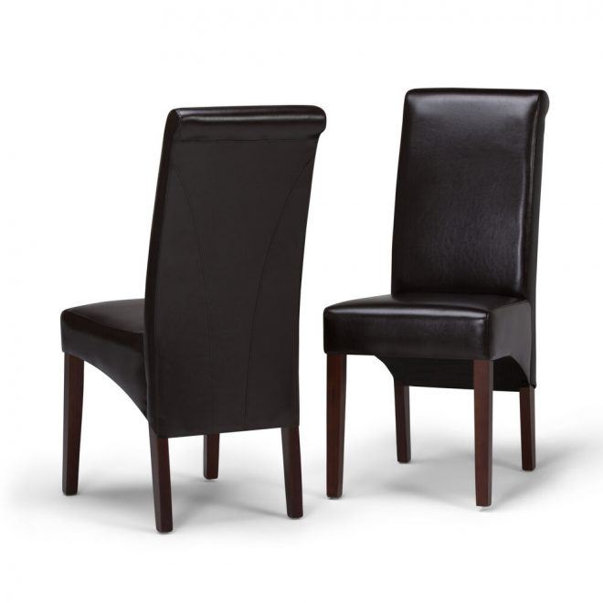 avalon faux leather parson dining chair in tanners brown set of 2 840469006485 ebay