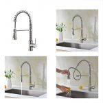 avola lead modern kitchen sink faucets single handle pull out