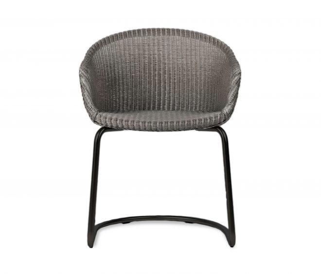 avril dining chair black cantilever base architonic