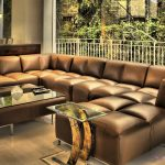 awesome brown leather sectional with chaise house