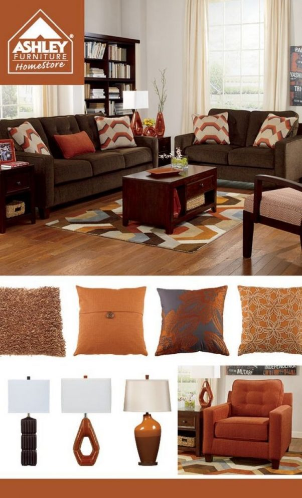 awesome chocolate brown and orange living room 6 red green