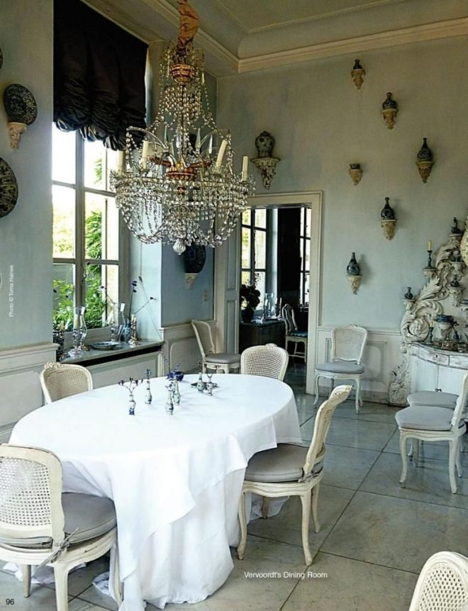axel vervoordts dining room in his castle on the outskirts