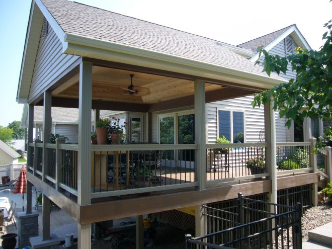 backyard covered deck ideas cement patio simple back yard