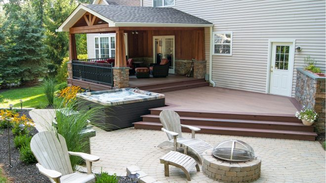backyard decking patio deck builder design ideas sparta