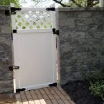 backyard privacy retaining wall gate installation in hanover pa ryans landscaping