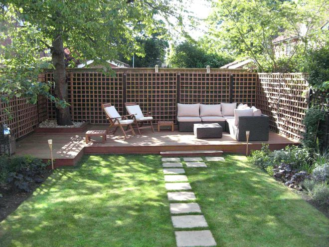 backyard sitting area garden seating with roof small cozy