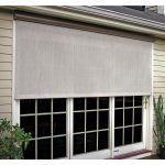 bali essentials coral white vinyl exterior solar shade left motor with full bronze cassette 102 in w x 84 in l