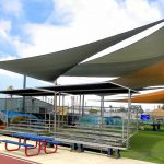 ballfield shade sails exterior shade structure in 2019
