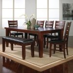 bardstown 7 piece dining table set w 5 chairs 1 bench crown mark at household furniture