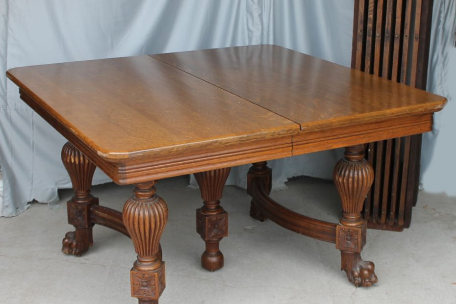 bargain johns antiques antique square oak dining table