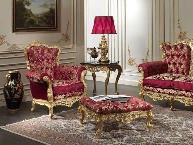 baroque armchair of the luxury classic collection living