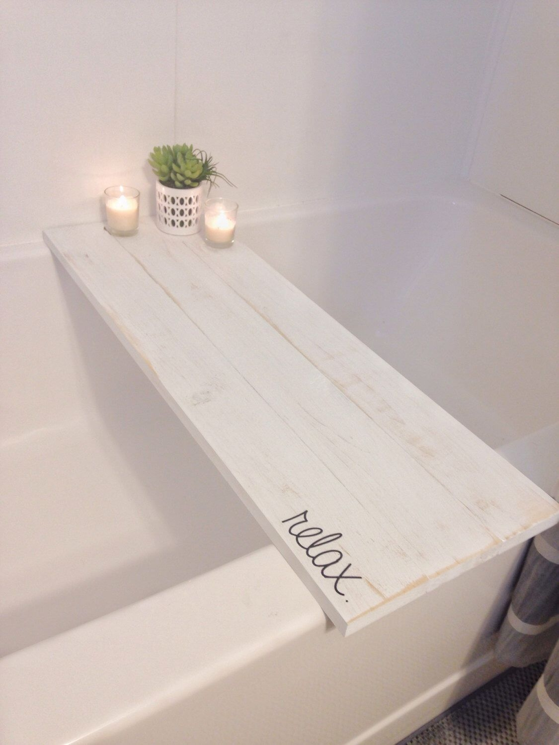 bath tub tray caddy bath tray bath caddy white rustic relax