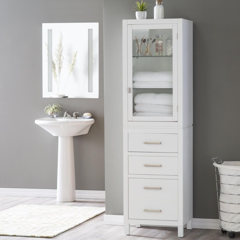 bathroom good white bathroom storage tower ideas bathroom storage