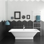 bathroom tile kitchen wall ceramic chevron cevica