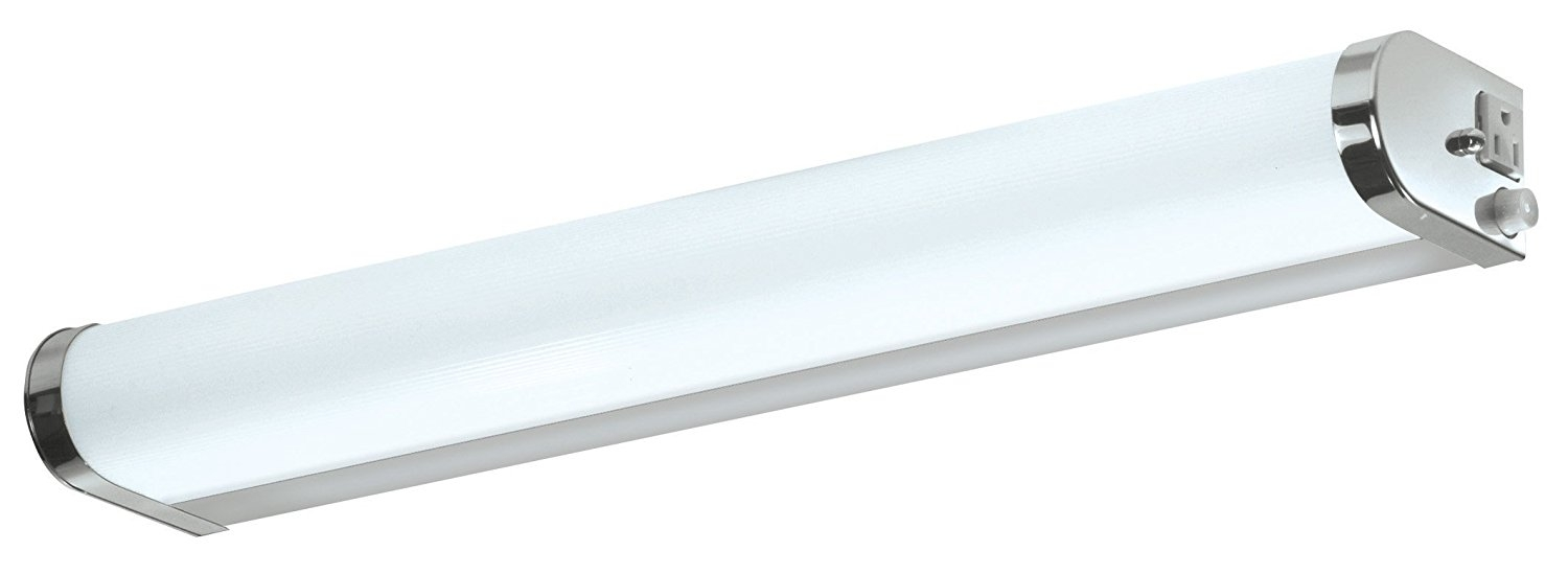 bathroom vanity light with outlet 3104
