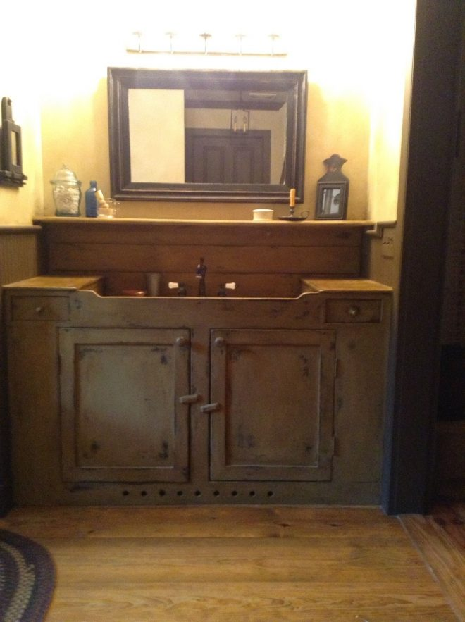 bathroom vanity primitive primitive pinterest bathroom